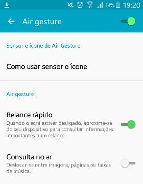 air gesture samsung galaxy