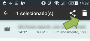 cancelar downloads no android