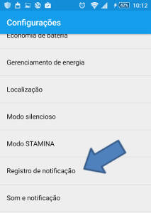 ver notificaçoes antigas no Android