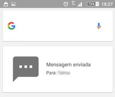 sms no google now