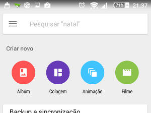 vídeo com fotos no Android