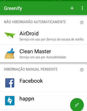 desinstalar o Greenify do Android