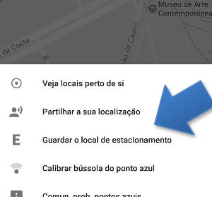 guardar o local de estacionamento