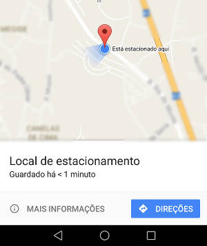 estacionamento no google maps
