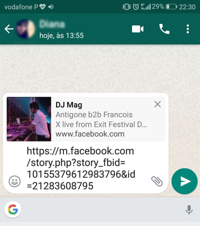 Como partilhar vídeos do Facebook no WhatsApp