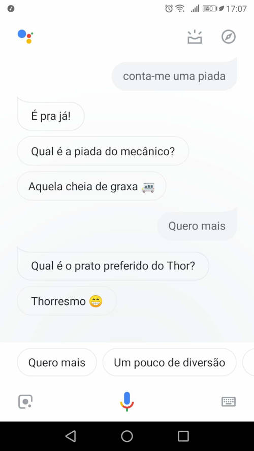 piadas do google assistente