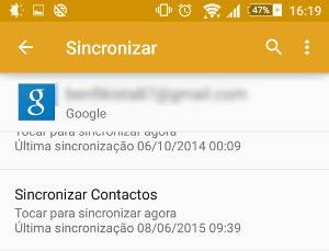sincronizar contactos android