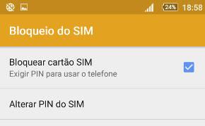 Como Alterar o PIN do cartão SIM no Android