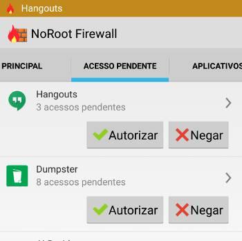 firewall no android autorizar