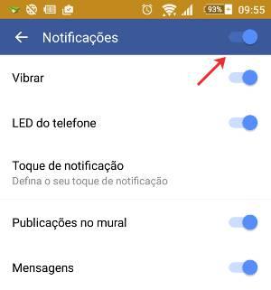 Como desativar as notificações do Facebook no Android