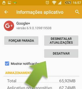 remover google mais do android