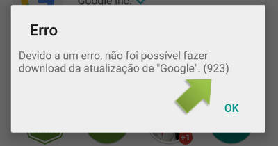 Como resolver erro no Google Play Store