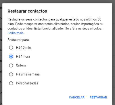 contatos excluidos do android