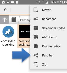 astro enviar app