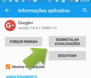 contatos parou de funcionar no Android