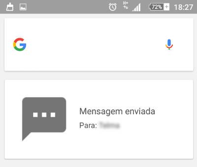 escrever SMS por voz no Android