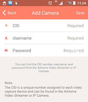 adicionar camera vigilancia android