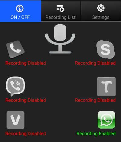 gravar chamadas no whatsapp