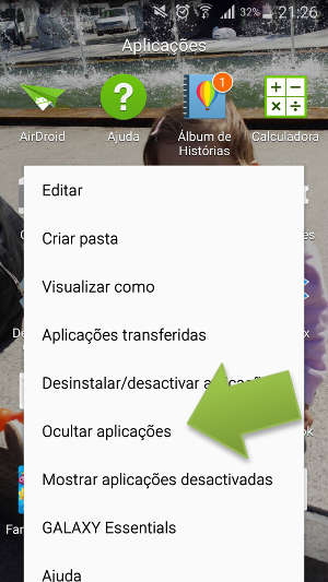 Como esconder aplicativos no Samsung Galaxy S4