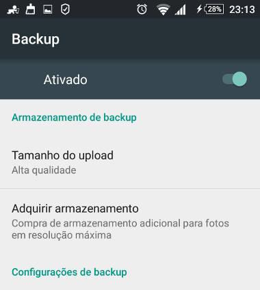 backup fotos do google drive