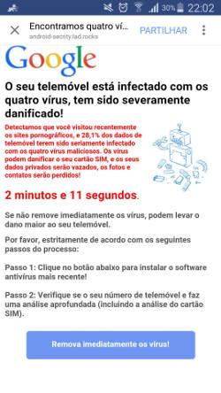celular está infectado com 4 vírus
