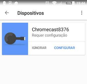 alterar wifi do chromecast