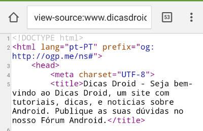 codigo fonte de página no Android