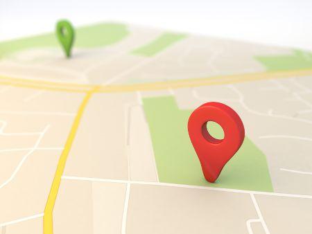 localização no mapa