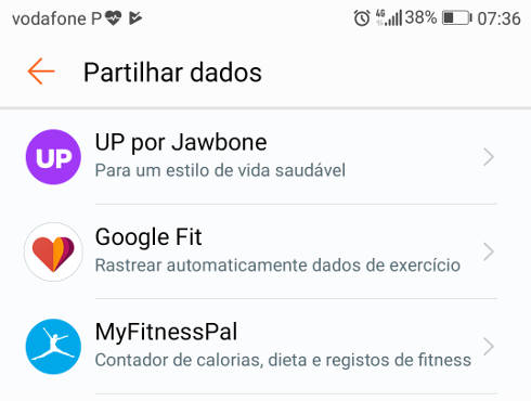 Conectar o aplicativo Saúde Huawei ao Google Fit