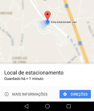 estacionamento no google maps