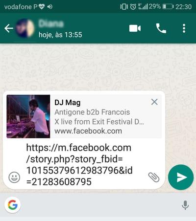 Como partilhar vídeos do Facebook no WhatsApp