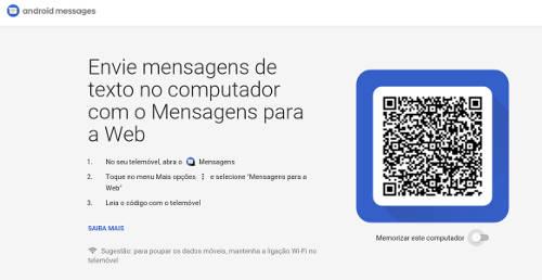 Como enviar SMS pelo PC no Android