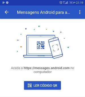 ler código qr no google mensagens
