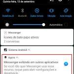 """Como remover notificação """"Messenger exibindo em outros aplicativos"""""""