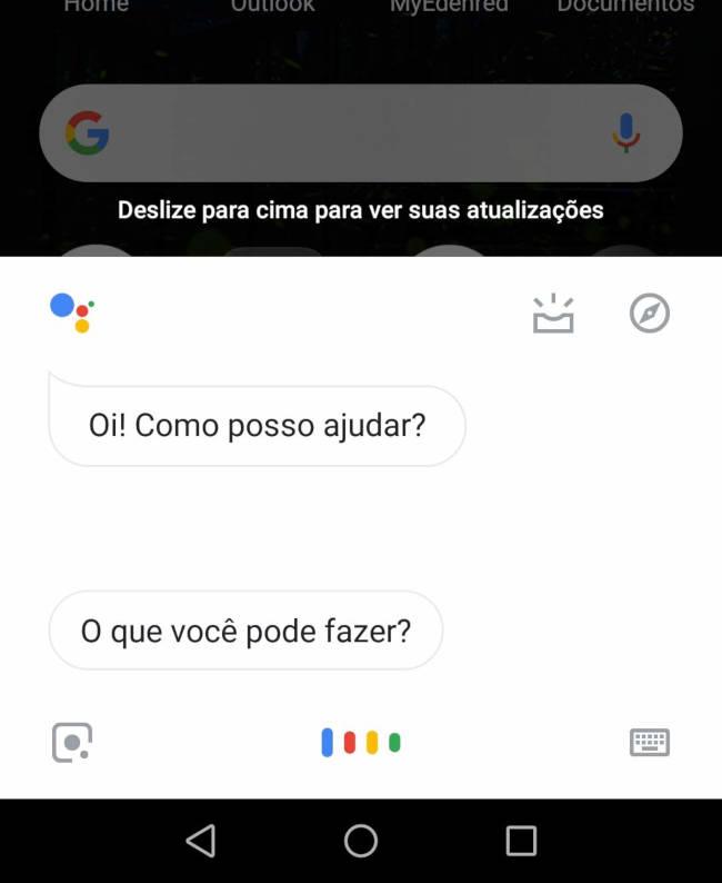 ok google assistente por voz