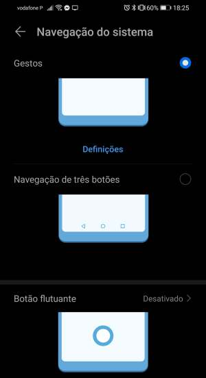 gestos de navegação do android 10