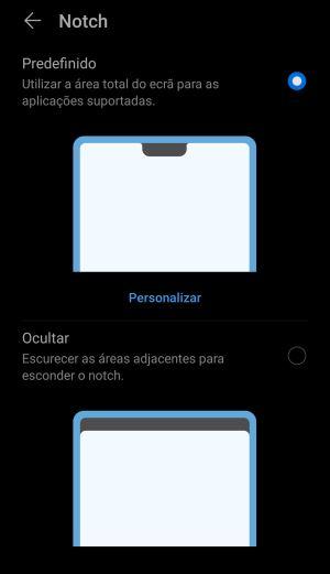 ocultar o Notch no Android