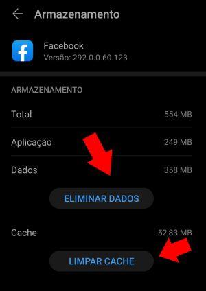 limpar cache do facebook