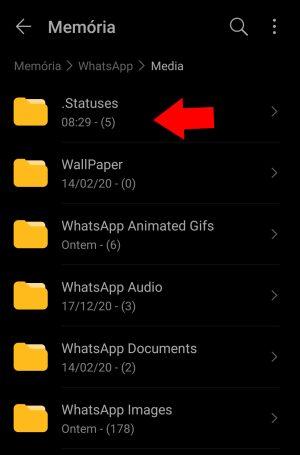 pasta statuses do whatsapp