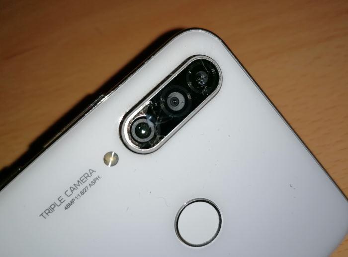 vidro da câmera traseira quebrou