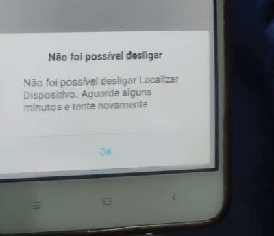 Não é possível desligar o Localizar Dispositivo ao formatar