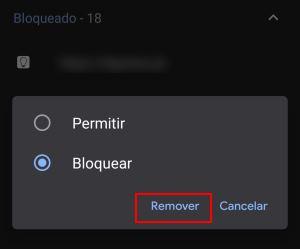 remover sites da lista de notificações do chrome