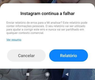 Instagram continua a falhar