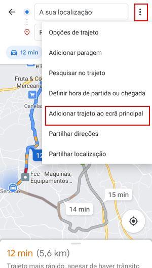 adicionar atalho do google maps na tela inicial