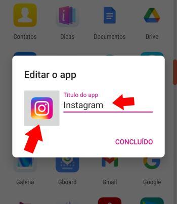 alterar ícone no android