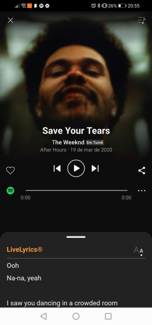 ver a letra da música no Spotify no soundhound
