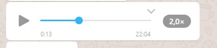 Como acelerar um áudio no WhatsApp